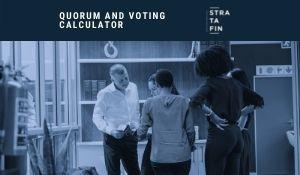AGM quorum and voting calculator